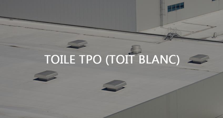 Toiture tpo toit blanc Longueuil.